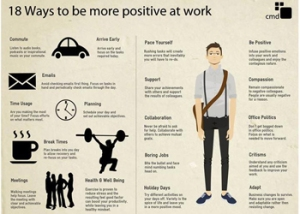 Ways to be more postive at work